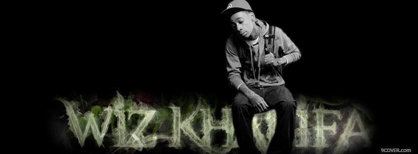 Photo wiz khalifa black and white Facebook Cover for Free
