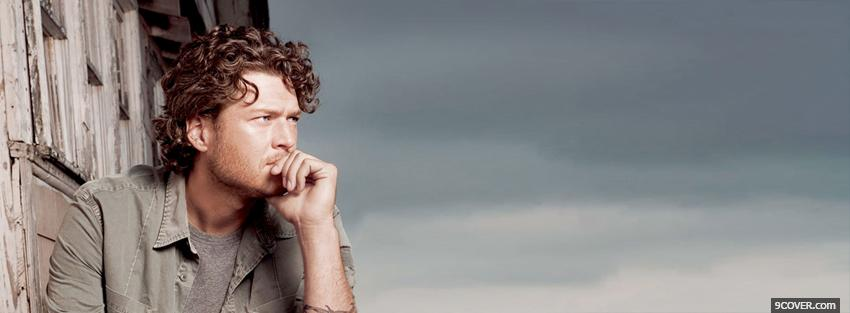 Photo blake shelton thinking Facebook Cover for Free