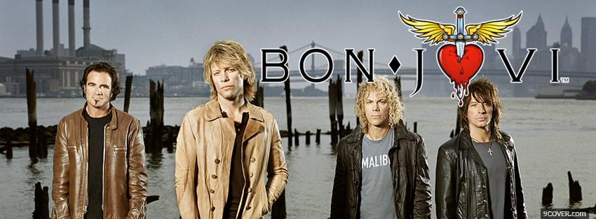 Photo music bon jovi Facebook Cover for Free