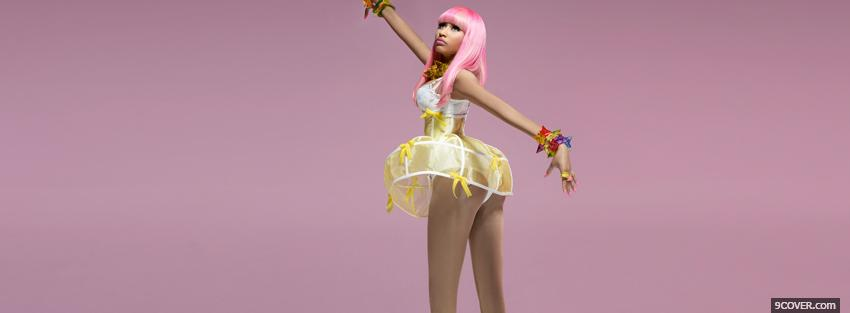 Photo nicki minaj with pink hair Facebook Cover for Free