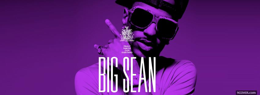Photo purple big sean smoking Facebook Cover for Free