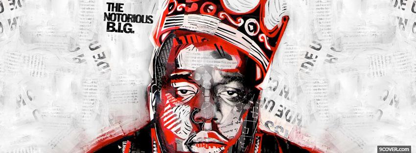 Photo the notorious big red and black Facebook Cover for Free