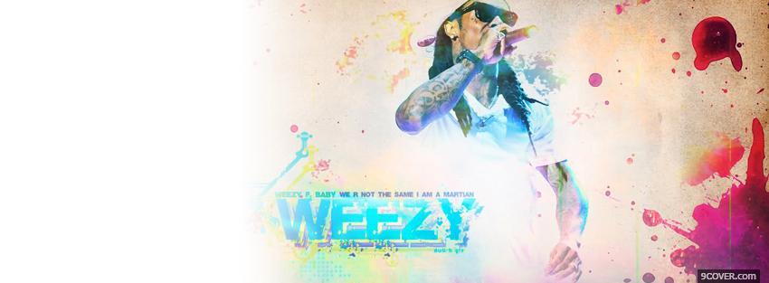 Photo weezy rapping music Facebook Cover for Free