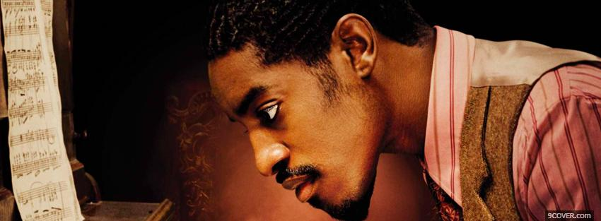 Photo andre 3000 with music sheet Facebook Cover for Free