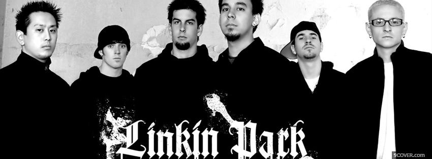 Photo linkin park black and white Facebook Cover for Free