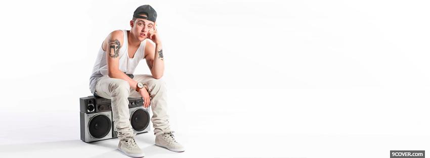 Photo mac miller sitting Facebook Cover for Free