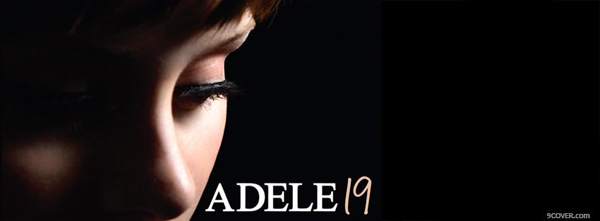 Photo music adele 19 Facebook Cover for Free