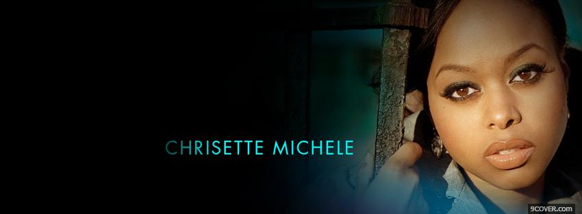 Photo music chrisette michele Facebook Cover for Free