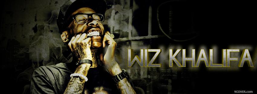 Photo wiz khalifa smiling music Facebook Cover for Free