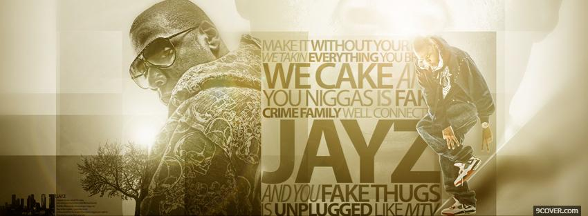 Photo jay z music quote Facebook Cover for Free