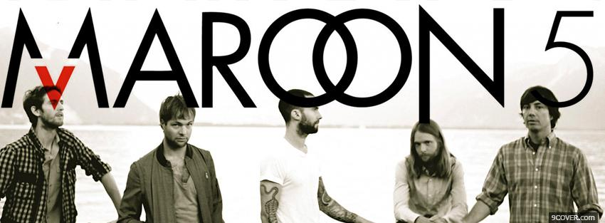 Photo maroon 5 black and white Facebook Cover for Free