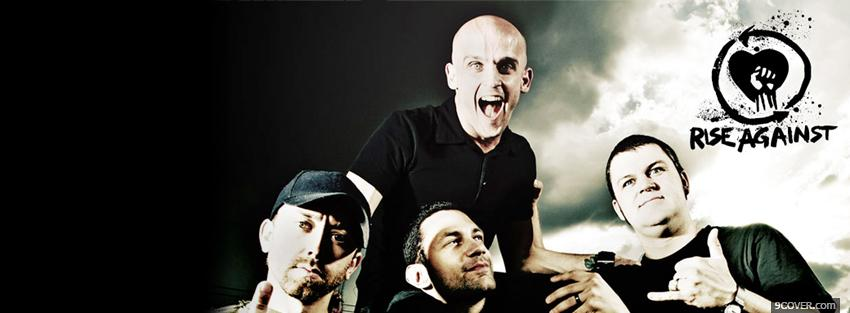 Photo rise against group music Facebook Cover for Free