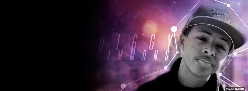 Photo diggy simmons purple sky Facebook Cover for Free