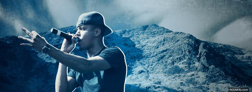 Photo j cole singing and mountains Facebook Cover for Free