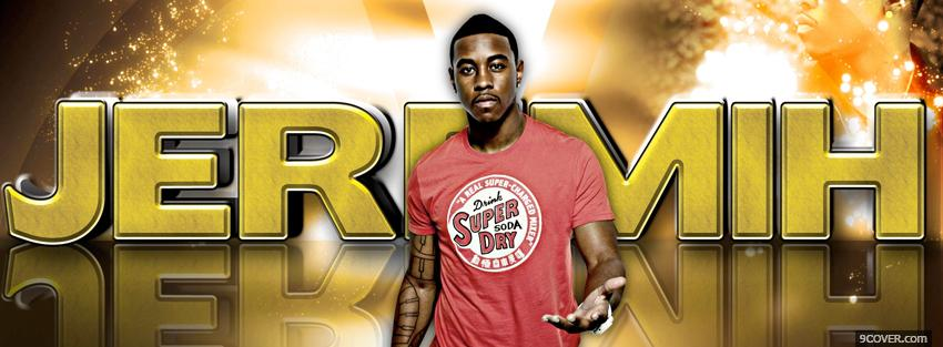 Photo jeremih with fiery sign Facebook Cover for Free