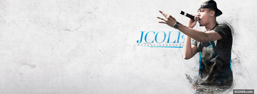 Photo j cole singing music Facebook Cover for Free