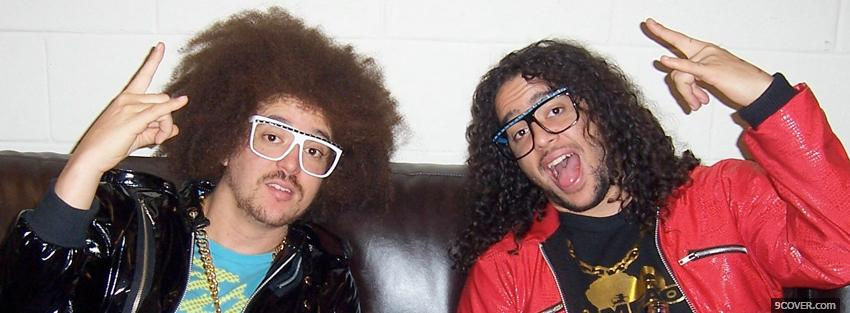 Photo lmfao with hands in the air Facebook Cover for Free