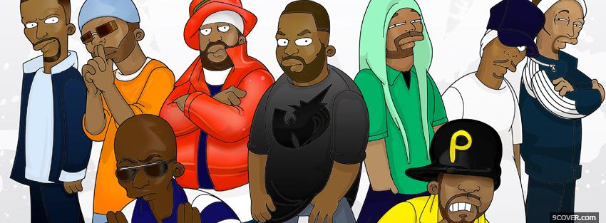 simpsons version of the wu tang Photo Facebook Cover