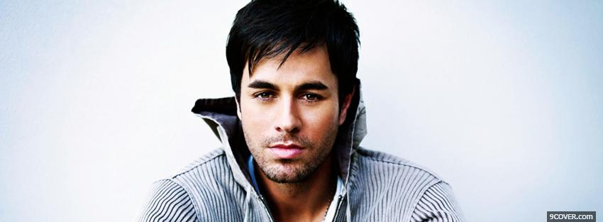 Photo enrique iglesias with hoodie Facebook Cover for Free