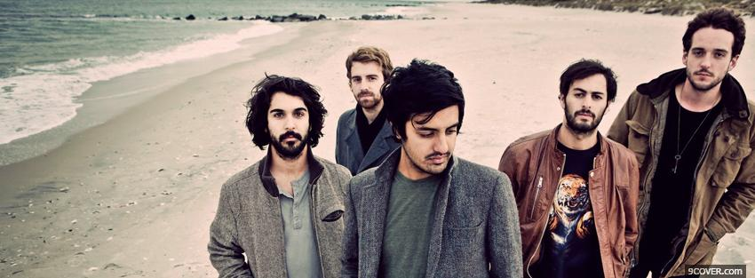 Photo young the giant on the beach Facebook Cover for Free
