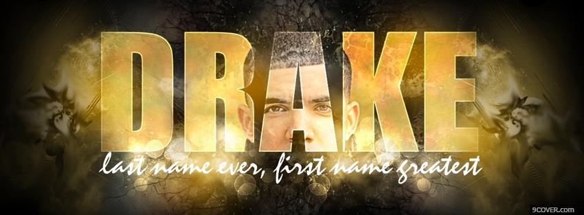 Photo music drake song quote Facebook Cover for Free