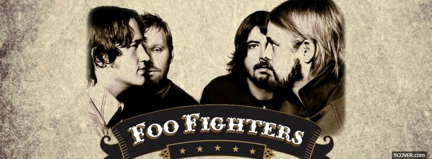 Photo music foo fighters Facebook Cover for Free