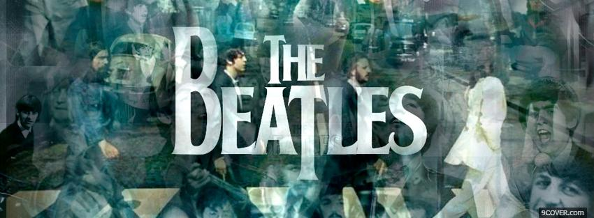 Photo the beatles band music Facebook Cover for Free