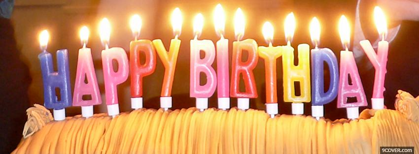 Photo Colorful Candles Happy Birthday Facebook Cover For Free