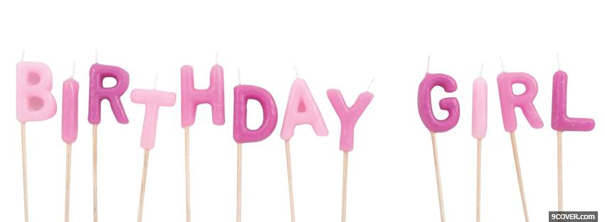 Photo purple birthday girl candles Facebook Cover for Free