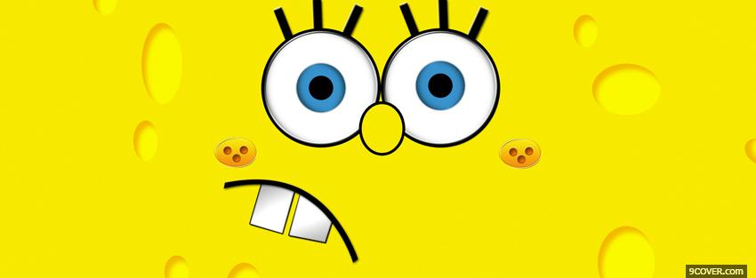 Photo sponge bob face worried Facebook Cover for Free