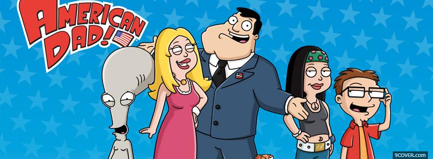 Photo american dad family Facebook Cover for Free