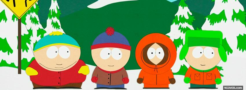 Photo cartoons south park Facebook Cover for Free