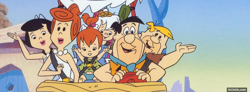 Photo the flinstones cartoons Facebook Cover for Free