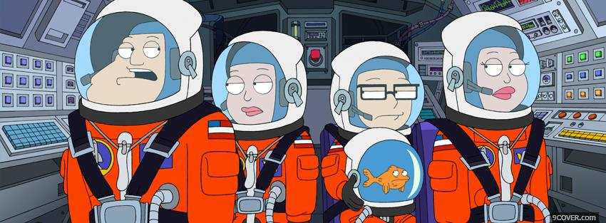 Photo american dad in space Facebook Cover for Free