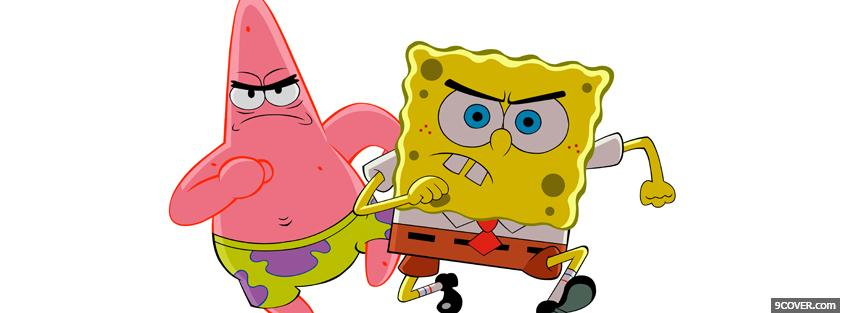 Photo cartoons sponge bob square pants Facebook Cover for Free