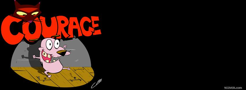 Photo courage the cowardly dog Facebook Cover for Free