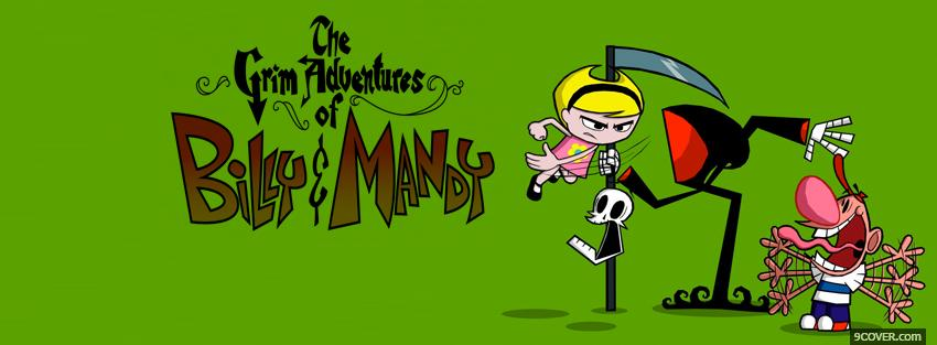 Photo grim adventures of billy and mandy Facebook Cover for Free