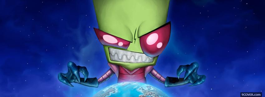 Photo invader zim with the world Facebook Cover for Free