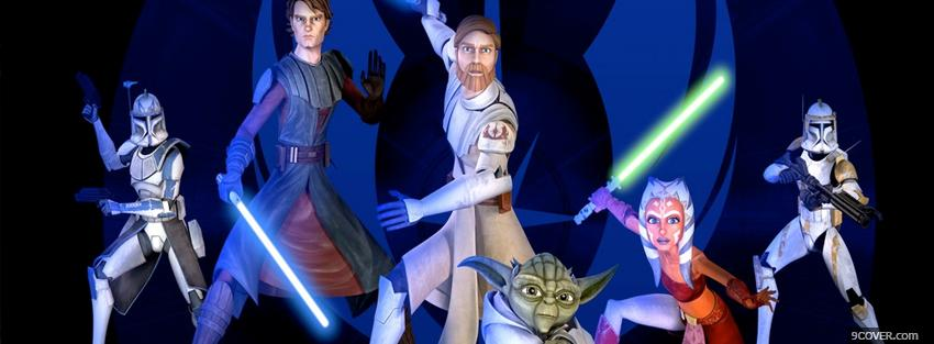 Photo start wars cartoons Facebook Cover for Free