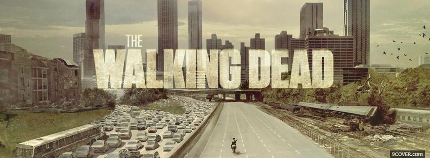 Photo tv shows the walking dead Facebook Cover for Free