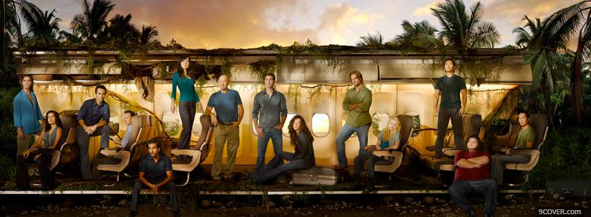 Photo tv shows lost crew in the jungle Facebook Cover for Free