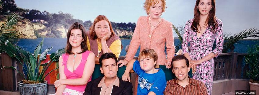 Photo tv shows two and a half men crew Facebook Cover for Free