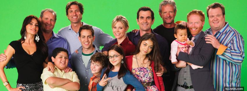 Photo tv shows modern family cast Facebook Cover for Free