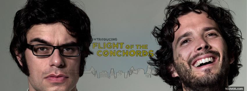 Photo crew of flight of the conchords Facebook Cover for Free