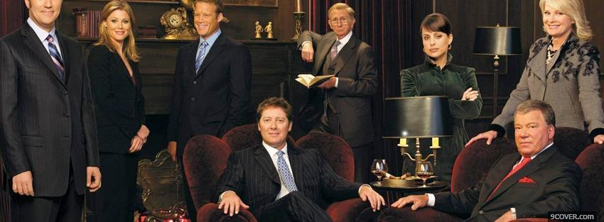 Photo tv shows boston legal actors sitting Facebook Cover for Free