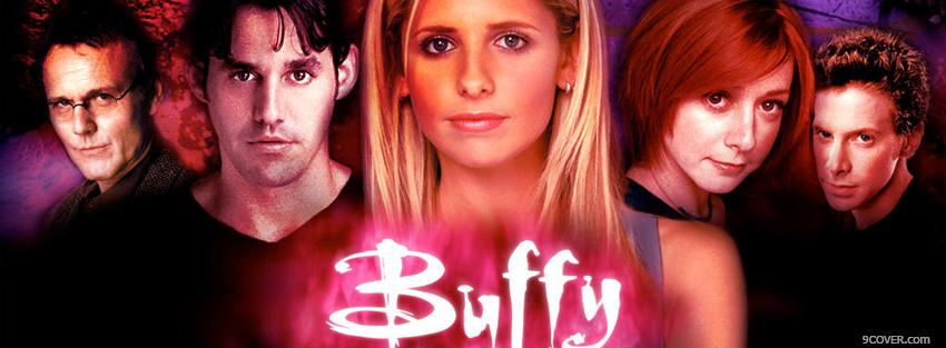 Photo buffy with cast of tv shows Facebook Cover for Free