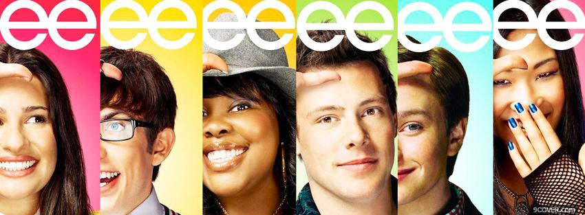 Photo tv series glee characters Facebook Cover for Free