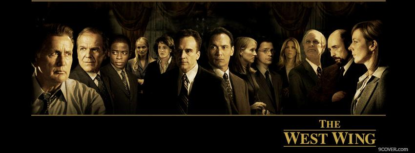 Tv Show The West Wing Characters Photo Facebook Cover