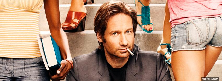 Photo hank moody with schoolgirls Facebook Cover for Free