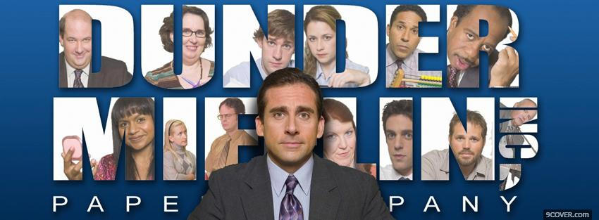 Photo micheal scott in the office Facebook Cover for Free